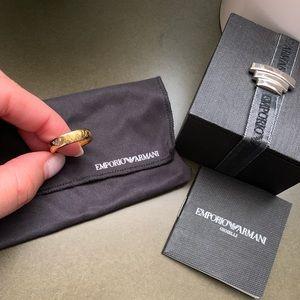 Gold color emporio Armani ring
